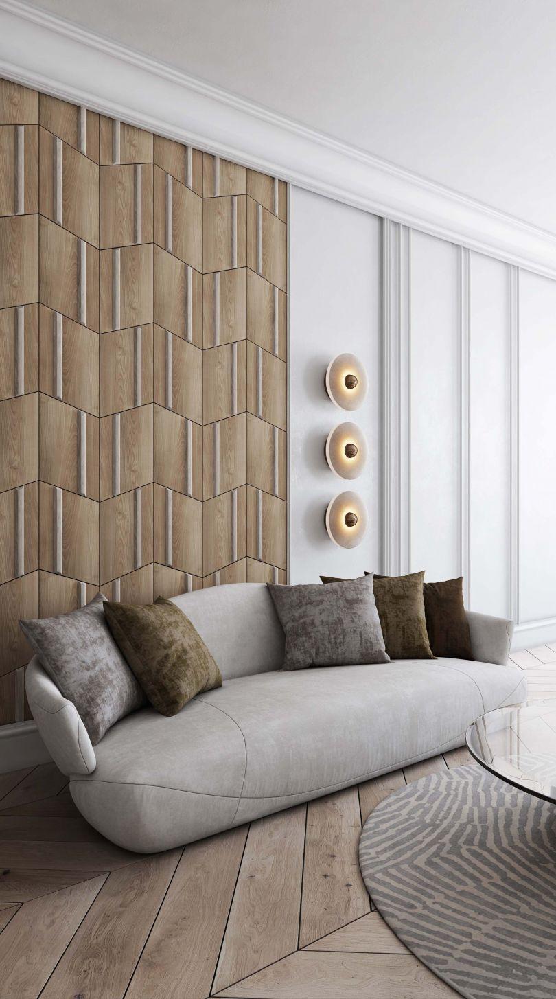 стеновые панели в гостиной