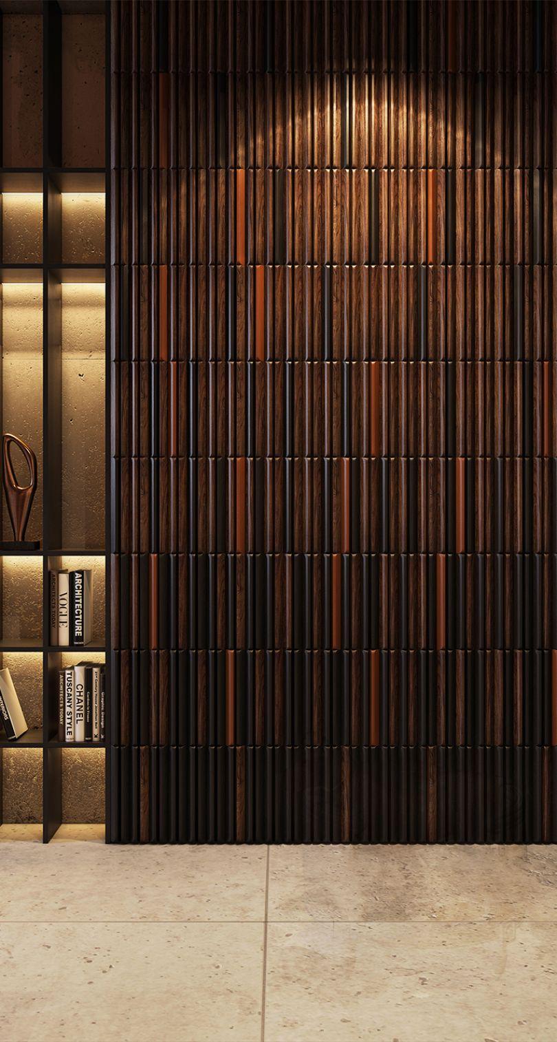 стеновые панели в кабинете