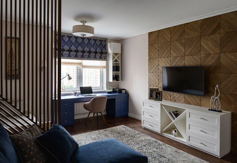 деревянная перегородка и панели