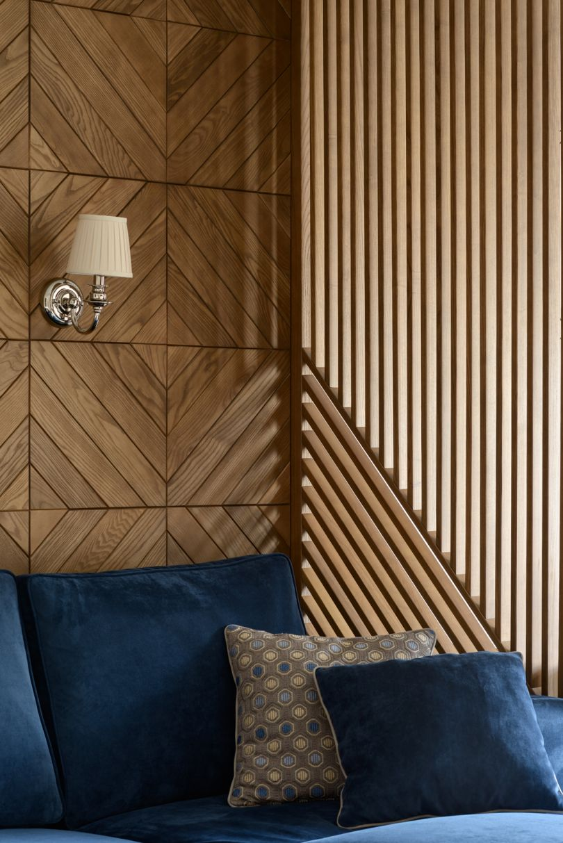 деревянные панели и перегородки