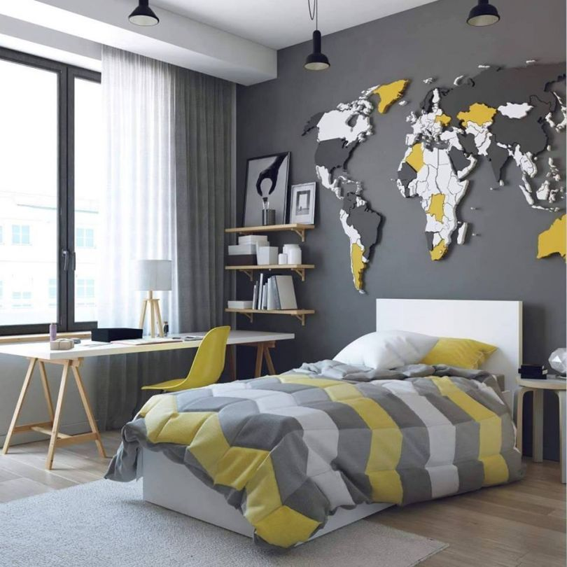 панно деревянная карта мира