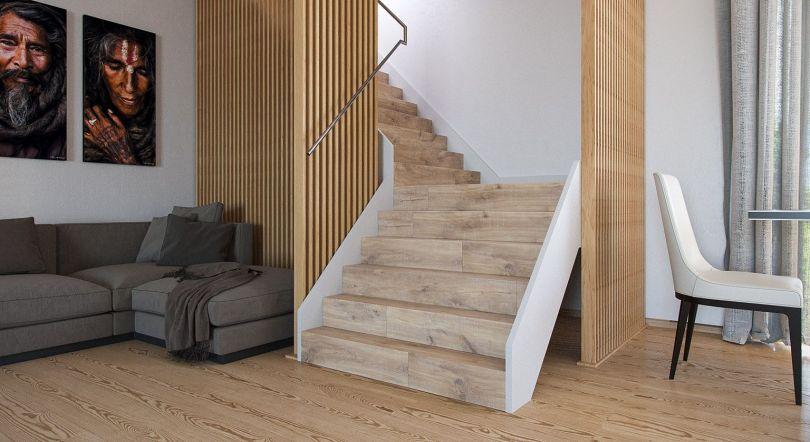 перегородки из реек для лестницы