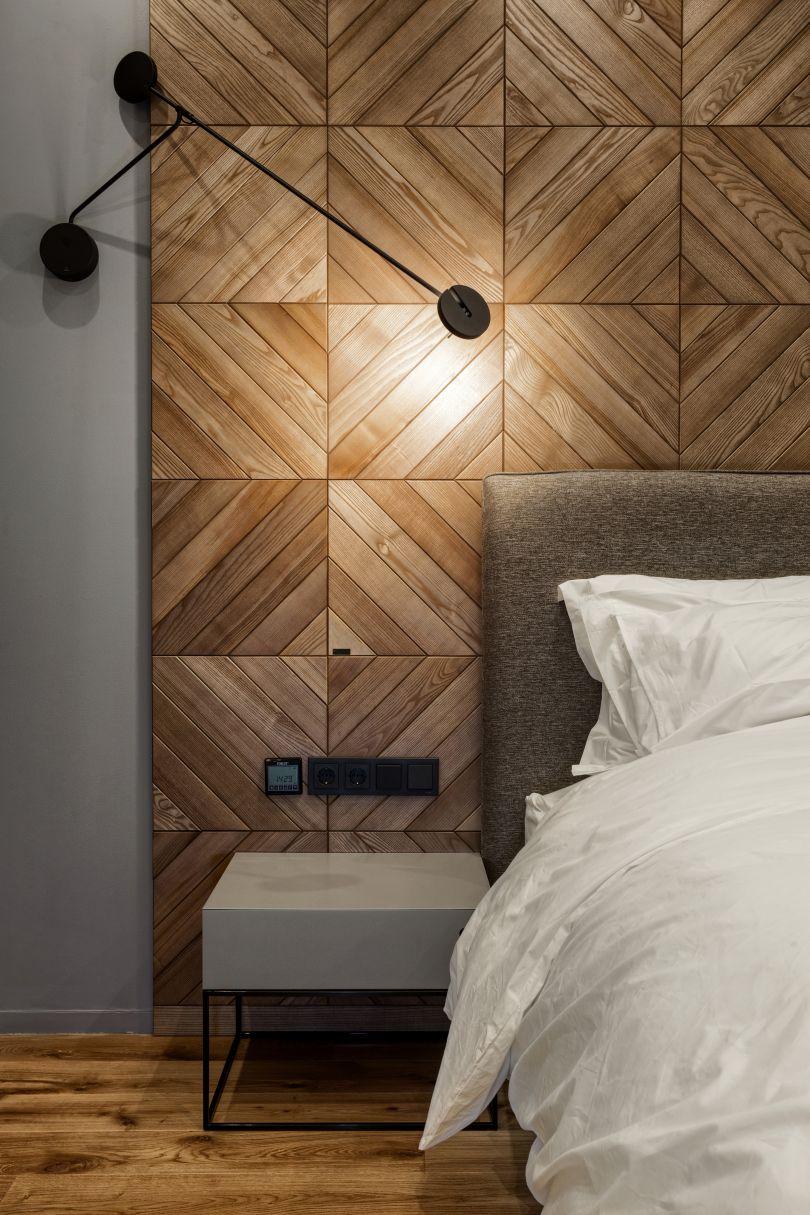 стеновые декоративные панели в спальне