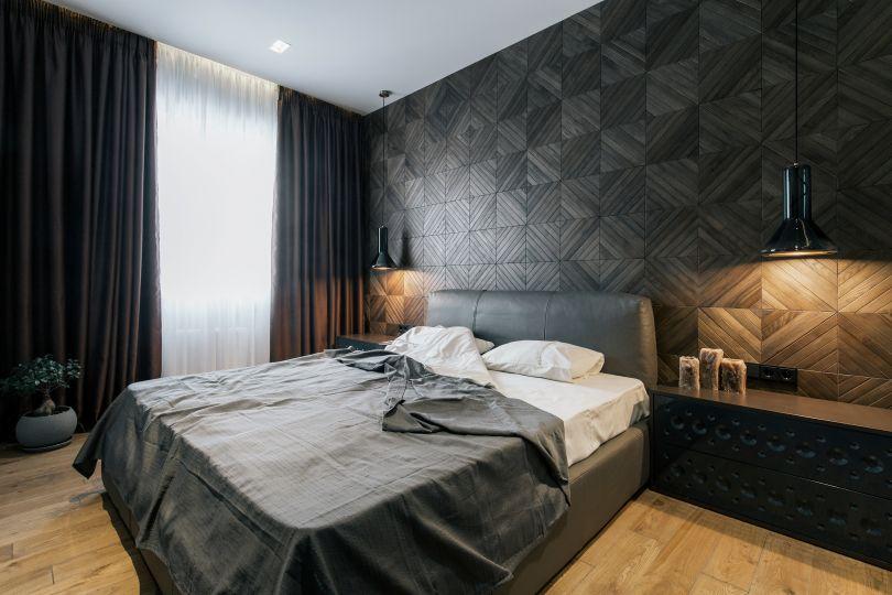 освещение стеновых панелей в спальне