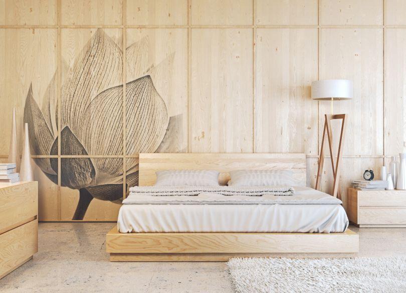 стеновые панели с печатью по дереву