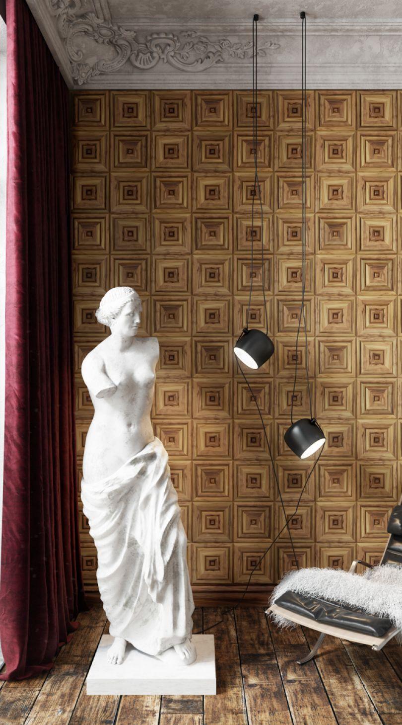Стеновые панели в классическом стиле