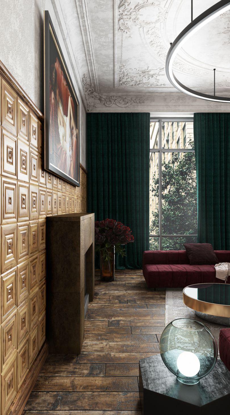 Деревянные панели в классическом стиле
