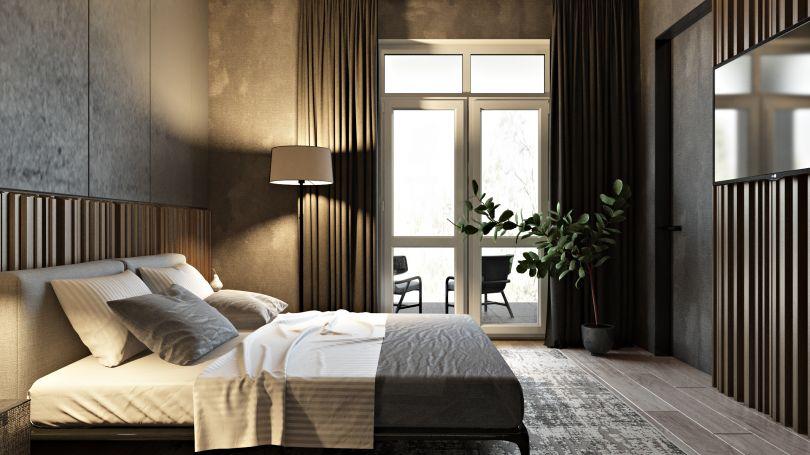 деревянный декор для спальни