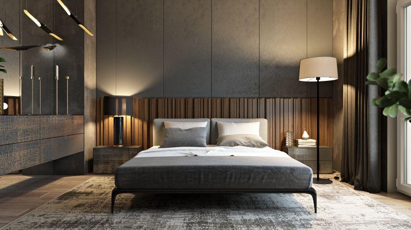 декоративные панели в спальне