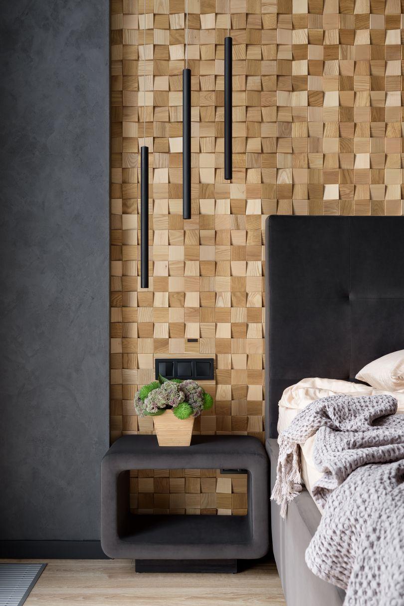 стеновые деревянные панели в интерьере