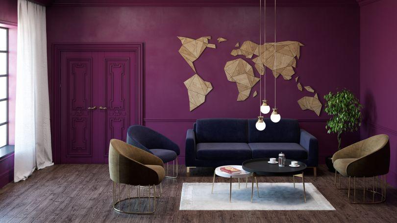 деревянная карта на стену