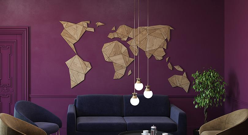 Decorative wall maps