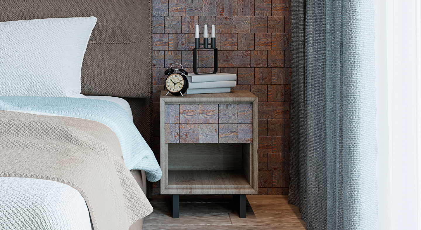 Woods panels  Woods panels  Furniture Patina Bedside