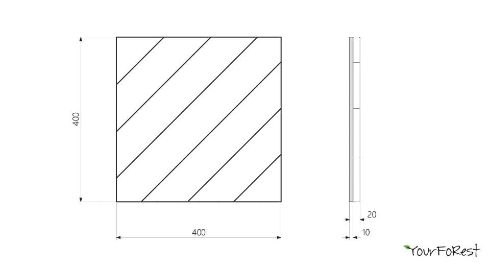 Схемы деревянных панелей 3D rack