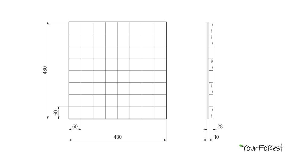 Схема деревянных панелей Mosaic pixels