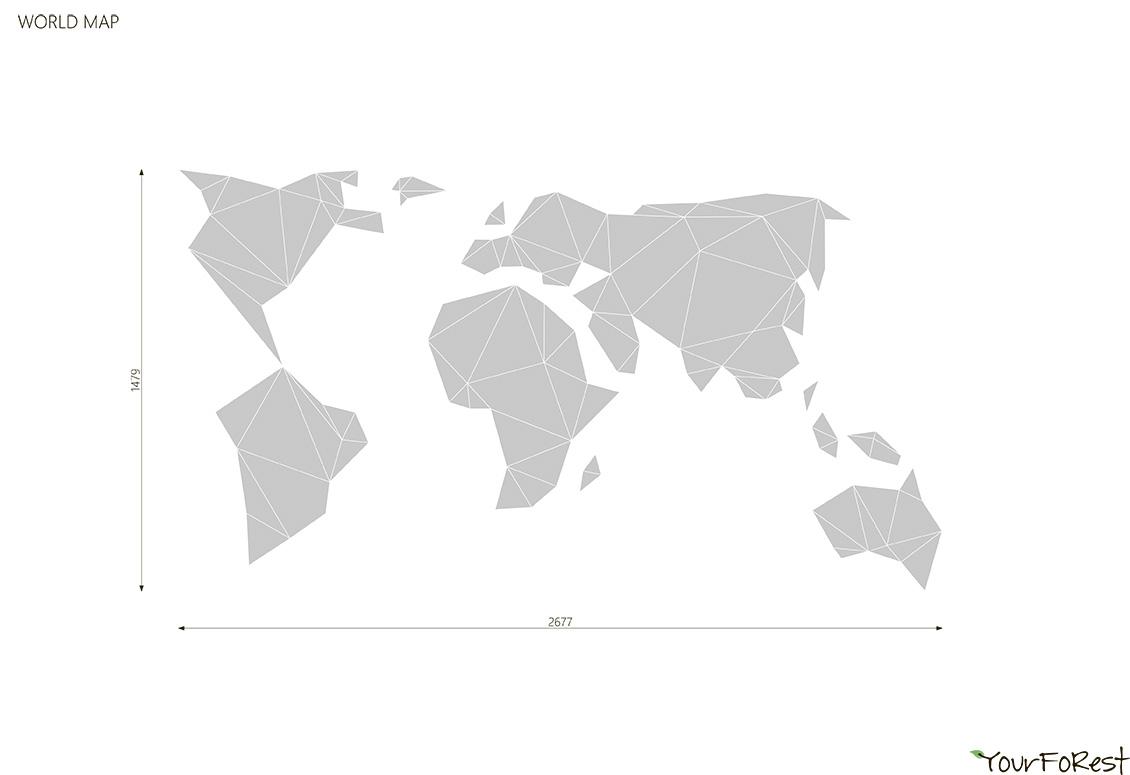 Декоративное настенное панно WOOD MAP